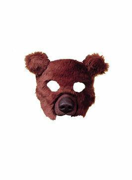 Furry Brown Bear Eye Mask