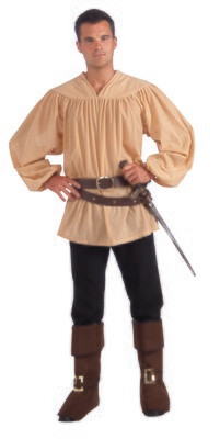 Mens Medieval Shirt tan Ad Std