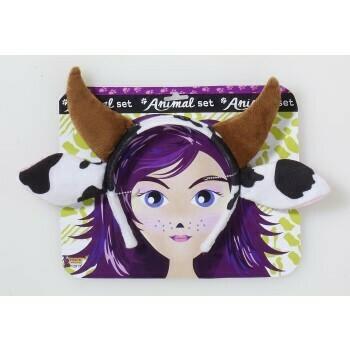Cow ears & horns headband only