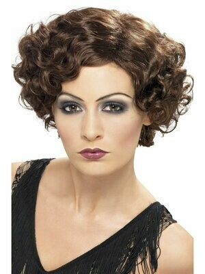 Flirty flapper wig brown