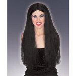 "30"" Long black straight wig"