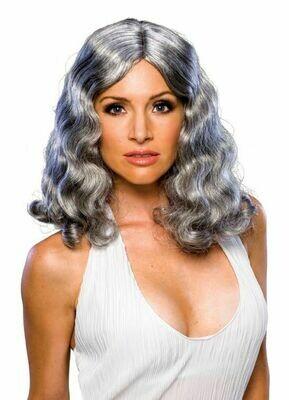 Flowing Grey Wig