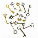 Steampunk keys (12 pc)