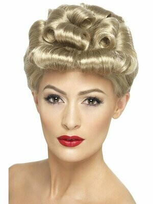 Blond 50's Up Do