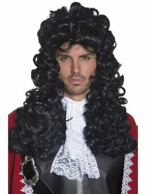 Pirate Captain Wig Black