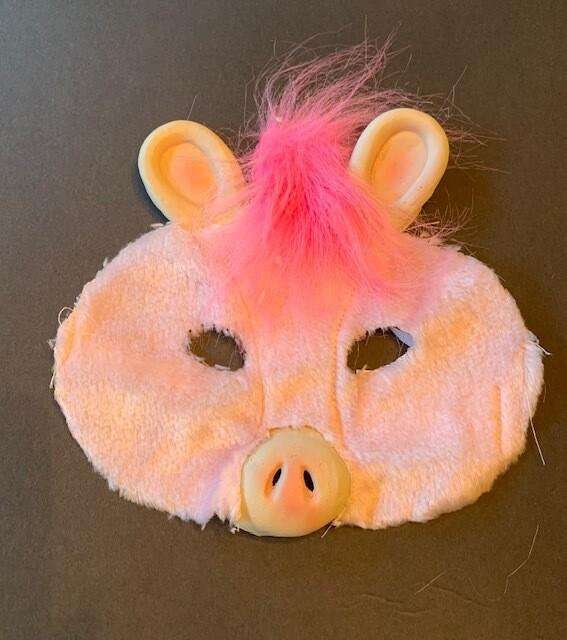 Child Plush Pink Pig mask