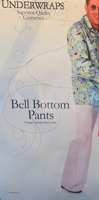 White Bellbottom Pants Ad Std