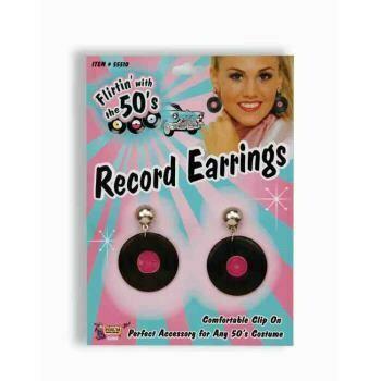 50's record earrings