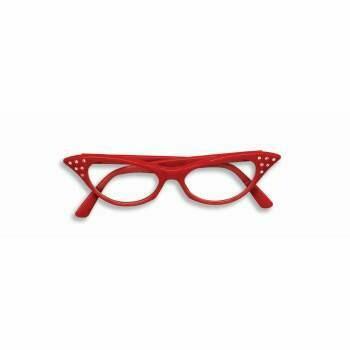 Rhinestone cat eye glasses - clear lenses