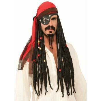 Pirate Headscarf with attached Dreds