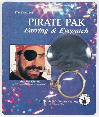 Pirate Eyepatch & earring