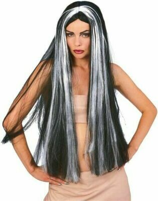Grey-Blk Witch Wig 30