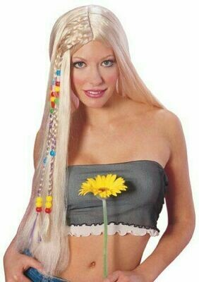 Blond straight Hippie wig