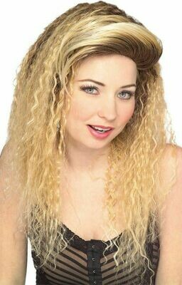 Jersey Girl 80's Wig -  Blonde as shown , Auburn - no photo