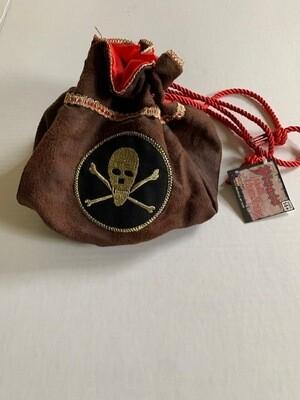 Pirate Maiden Suede Drawstring Bag