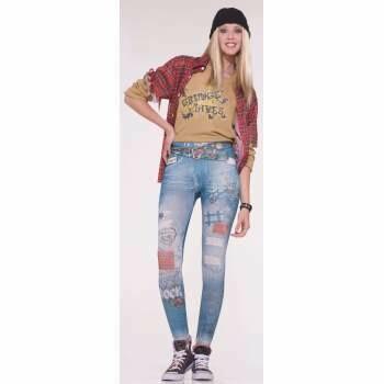 Grunge Jeans Leggings