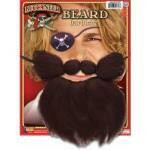 Black Mohair Beardset on elastic band