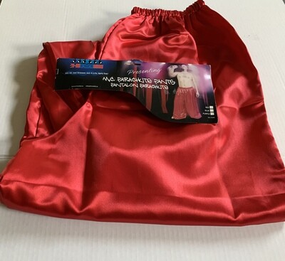 Red Satin Balloon Leg Rapper Pant Ad