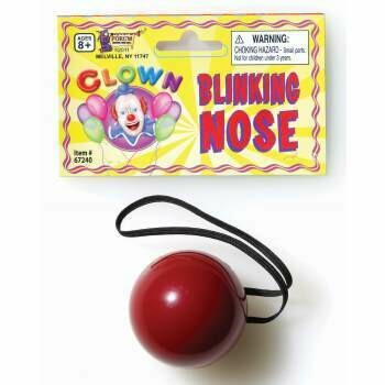 Blinking lite up Clown - Reindeer nose