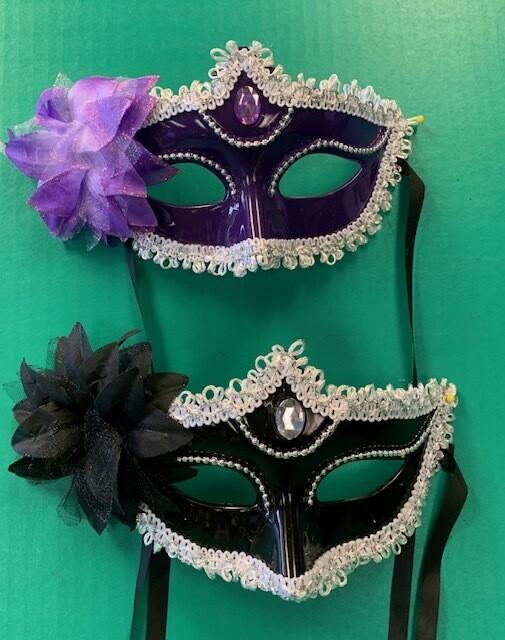 Lace & floral mask asst