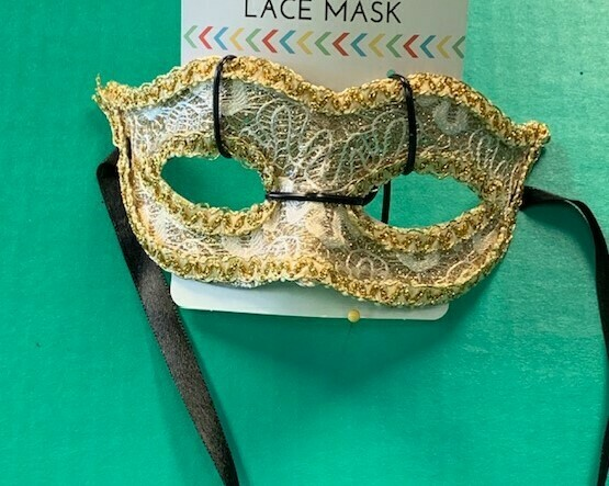 Gold lace mardigras mask