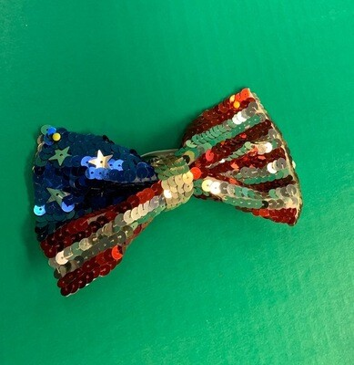 Stars & Stripes sequin bowtie