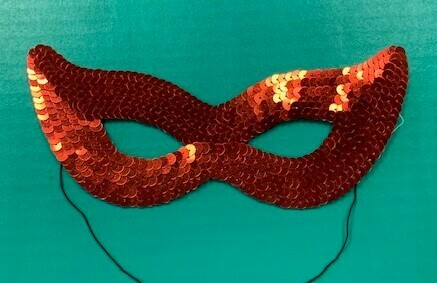 Red Sequin Eye Mask