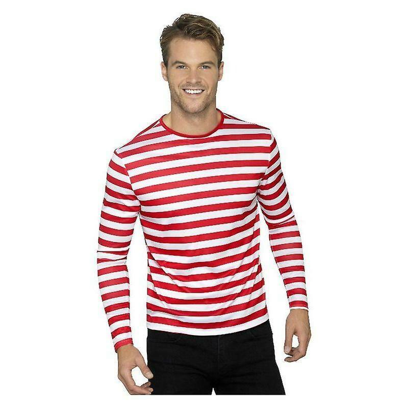 Red-White Stripe Long Sleeve Tee