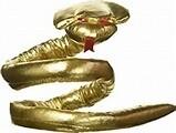Cleopatra Gold Metallic Asp Armband