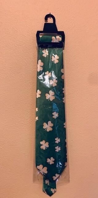 Shamrock Satin Long Tie