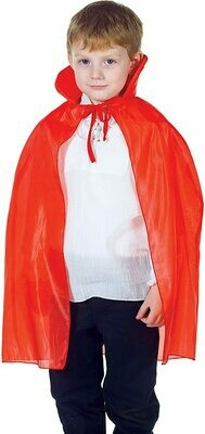 Child Taffeta Cape Red