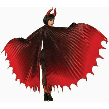 Pleated theatrical Demon Wings