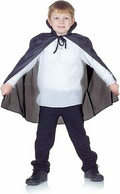 Child Black Tafetta Cape