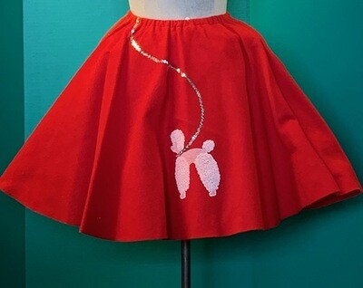 50's Poodle Skirt Child One Size