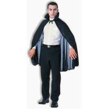"45"" Taffetta cape - black or red"