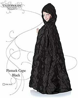 Child Pintuck Cape with hood  BLK