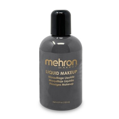 Black Mehron Liquid Makeup 4.5 oz