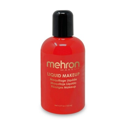 Red Mehron Liquid Makeup 4.5 oz