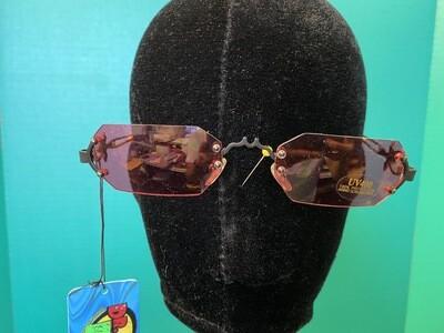 Gothic Vampire Sunglasses Black & Rose