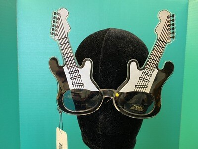 Guitars Black & White Sunglasses