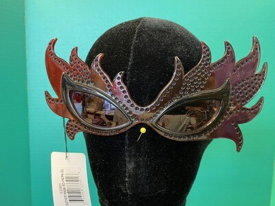 Feather Mask Red & Purple Sunglasses