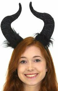 Demon horns on headbanc