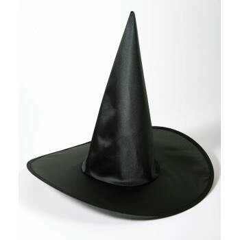 Black Satin Witch Hat AD