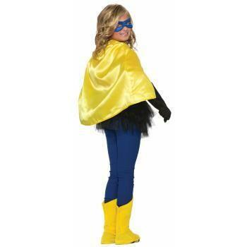 Child Hero Cape - Yellow Satin