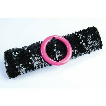 Black sequin Belt