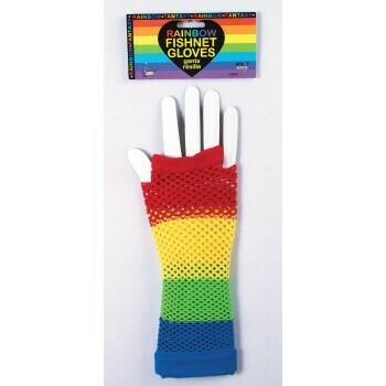 Rainbow Fishnet Glovelets