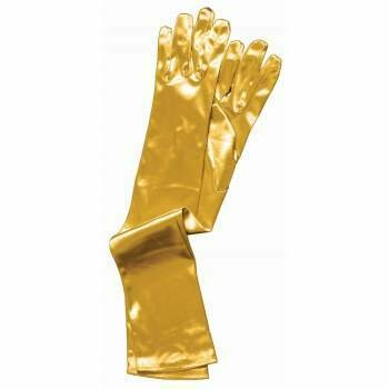 Gold Satin Opera Length Glove