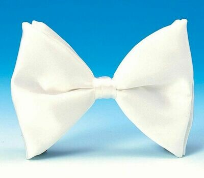 White Clip On Formal Bowtie