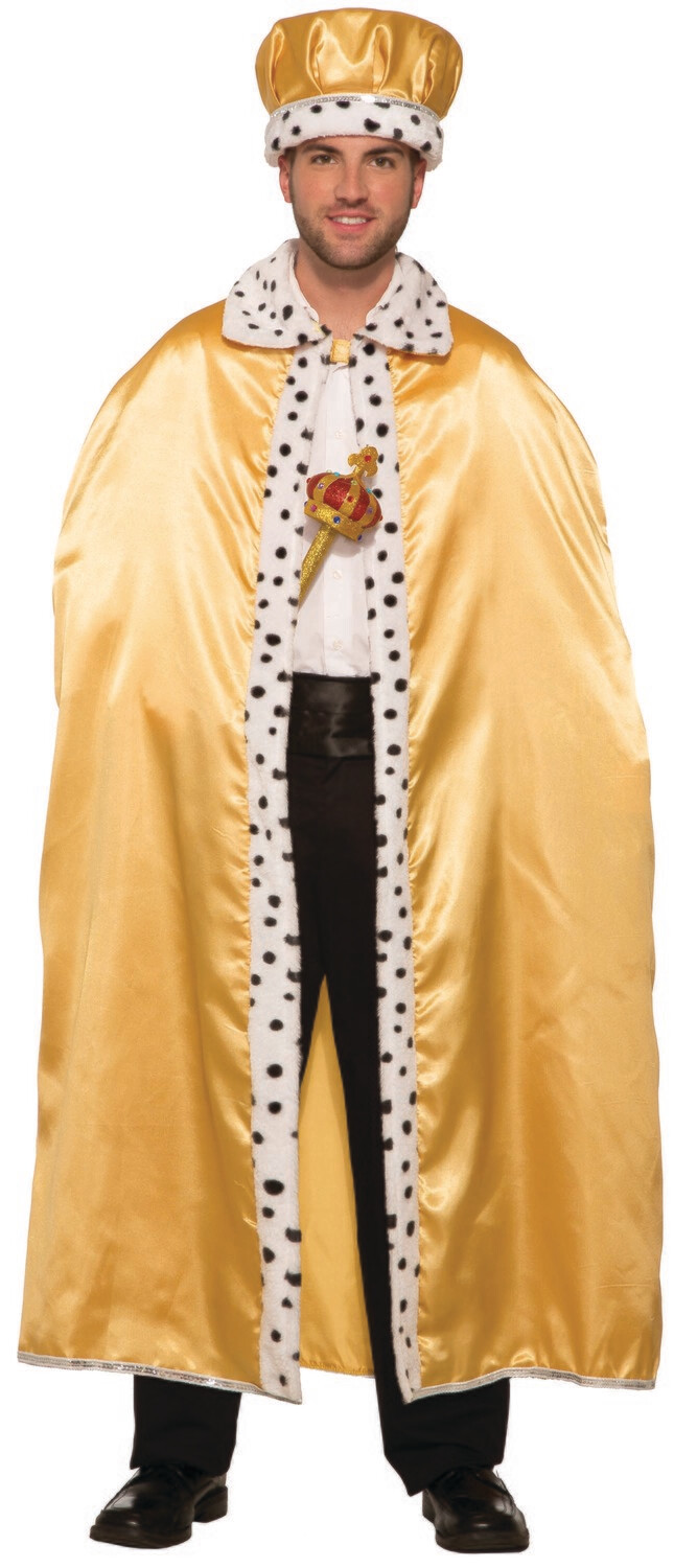 Adult Royal Gold Cape With Faux Fur