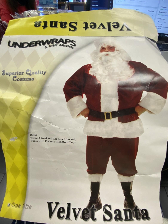 Santa Velvet Underwraps Costume